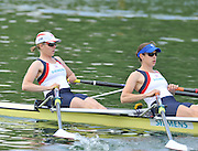 Caversham, Great Britain.  GBR W2X Bow Beth RODFORD and Annabel VERNON. GB Rowing media day, GB Rowing Training Centre, Caversham. Tuesday,  18/05/2010 [Mandatory Credit. Peter Spurrier/Intersport Images]