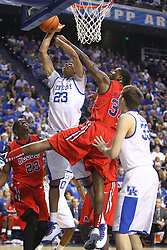 Anthony Davis. UK hosted Ole Miss Saturday, Feb. 18, 2012 at Rupp Arena in Lexington . Photo by
