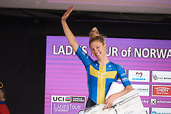 Second place for Emilia Fahlin (SWE) at Ladies Tour of Norway 2018 Stage 1, a 127.7 km road race from Rakkestad to Mysen, Norway on August 17, 2018. Photo by Sean Robinson/velofocus.com