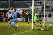 Forest Green Rovers Christian Doidge(9) shoots at goal \02 during the Vanarama National League match between Bromley FC and Forest Green Rovers at Hayes Lane, Bromley, United Kingdom on 7 January 2017. Photo by Shane Healey.