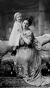 Queen Wilhelmina & Juliana 1910s Wilhelmina  31 August 1880 - 28 November 1962) was Queen regnant of the Kingdom of the Netherlands from 1890 to 1948. She ruled the Netherlands for fifty-eight years, longer than any other Dutch monarch. Her reign saw World War I and World War II. Shown with the future queen Juliana.