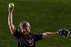 Stanford softball pitcher Missy Penna.