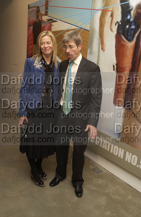 Lady Helen Taylor and Timothy Taylor. Richard Patterson: Paintings from Dallas.  Timothy Taylor Gallery. Dering St.  London. 21 October 2005. ONE TIME USE ONLY - DO NOT ARCHIVE © Copyright Photograph by Dafydd Jones 66 Stockwell Park Rd. London SW9 0DA Tel 020 7733 0108 www.dafjones.com