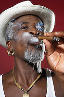 Man in Fedora Smoking Cigar