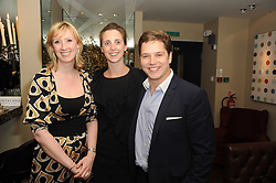 A party to promote the exclusive Puntacana Resort & Club - the Caribbean's Premier Golf & Beach Resort Destination, was held at The Groucho Club, 45 Dean Street London on 12th May 2010.<br /> <br /> Picture shows:-Left to right, KATHERINE BARTON, KATE LEVIN and JAMES HART