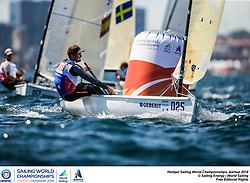 Aarhus, Denmark is hosting the 2018 Hempel Sailing World Championships from 30 July to 12 August 2018. More than 1,400 sailors from 85 nations are racing across ten Olympic sailing disciplines as well as Men's and Women's Kiteboarding. <br /> 40% of Tokyo 2020 Olympic Sailing Competition places will be awarded in Aarhus as well as 12 World Championship medals. ©PEDRO MARTINEZ/SAILING ENERGY/AARHUS 2018<br /> 03 August, 2018.