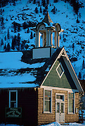 Historic Frisco Schoolhouse in winter-Main Street  Frisco, Colorado