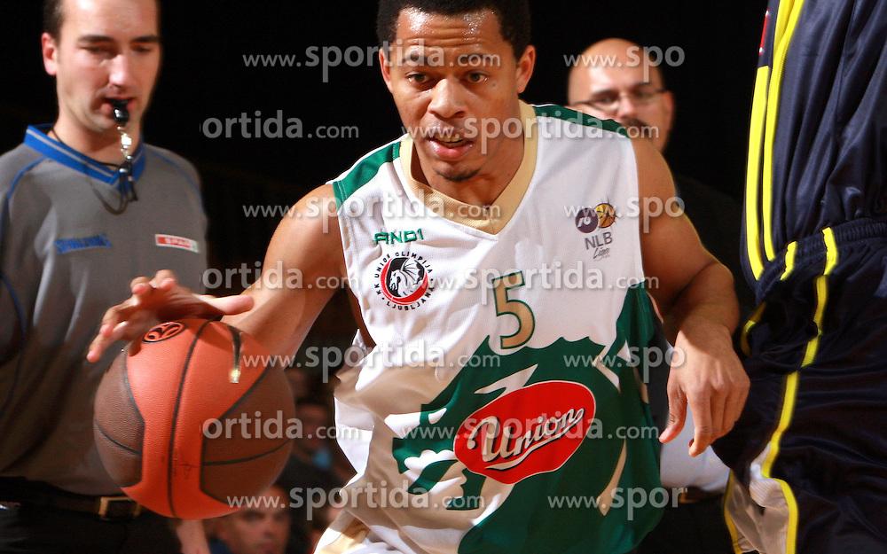 Jonathan Wallace  at Pre-season basketball tournament between Union Olimpija, Ljubljana, and Fenerbahce Ulker, Istanbul, on September 26, 2008, in Arena Tivoli in Ljubljana. Match was won by Union Olimpija 74:57. (Photo by Vid Ponikvar / Sportal Images)