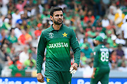 Shoaib Malik of Pakistan during the ICC Cricket World Cup 2019 match between Pakistan and Bangladesh at Lord's Cricket Ground, St John's Wood, United Kingdom on 5 July 2019.