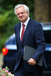 © Licensed to London News Pictures. 18/10/2016. London, UK. Secretary of State for Exiting the European Union DAVID DAVIS attends a cabinet meeting in Downing Street on Tuesday, 18 October 2016. Photo credit: Tolga Akmen/LNP