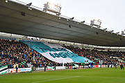 Plymouth Argyle fans pass a huge We Are Argyle flag around the ground before the EFL Sky Bet League 1 match between Plymouth Argyle and Accrington Stanley at Home Park, Plymouth, England on 22 December 2018.