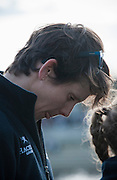 London, Great Britain, Caryn DAVIES, reflects, , after winning the Newton Women's Boat Race.  Newton Women's Boat race and the reserve races Mortlake. ENGLAND. <br /> <br /> 17:25:22  Saturday  11/04/2015<br /> <br /> [Mandatory Credit; Intersport-images]