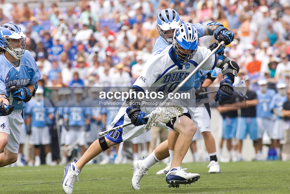 28 May 2007: Duke Blue Devils attackman Matt Danowski (40) in a 11-12 loss to the Johns Hopkins Blue Jays at M&T Bank Stadium during the NCAA finals in Baltimore, MD.
