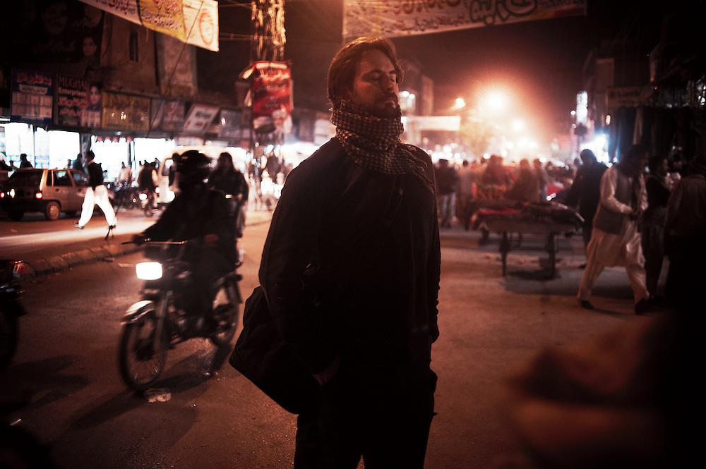 The Hurt Locker Academy award winning screenwriter Mark Boal undertaking research for Zero Dark Thirty on the streets of Rawalpindi, Pakistan on December 5, 2011.
