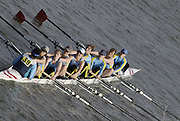 Chiswick. GREAT BRITAIN,  Cambridge 99 'B', approaching the start, from, Chiswick Bridge, during the 2007 Women's Head of the River Race,  raced over the Championship Course, [reverse] on the River Thames, London, on SAT 17.03.2007,  [Photo Peter Spurrier/Intersport Images]  [Mandatory Credit, Peter Spurier/ Intersport Images]. , Rowing Course: River Thames, Championship course, Putney to Mortlake 4.25 Miles,