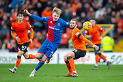 Coll Donaldson (#5) of Inverness Caledonian Thistle FC looks to get to the ball ahead of Pavol Safranko (#14) of Dundee United FC during the William Hill Scottish Cup quarter final match between Dundee United and Inverness CT at Tannadice Park, Dundee, Scotland on 3 March 2019.