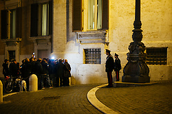 Press and Carabinieri in front of the Italian Parliament. Rome 14 March 2018. Christian Mantuano / OneShot