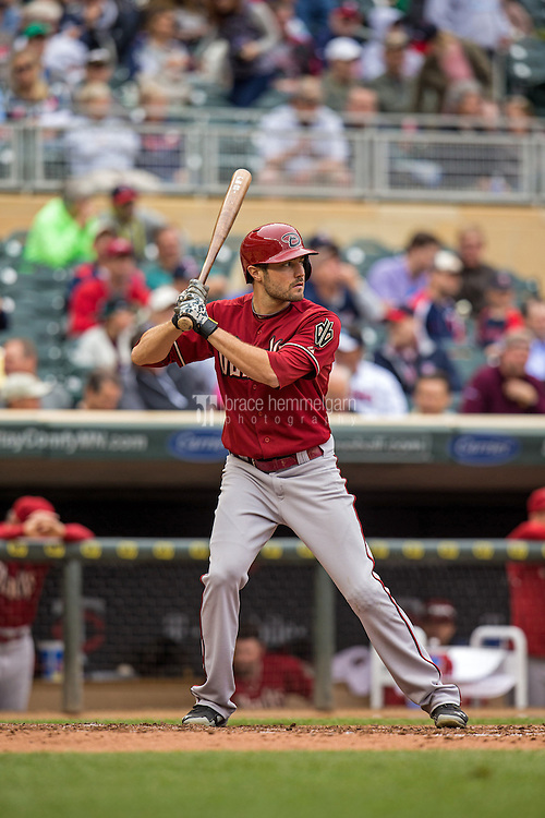 MINNEAPOLIS, MN- SEPTEMBER 24: A.J. Pollock #11 of the Arizona Diamondbacks bats against the Minnesota Twins on September 24, 2014 at Target Field in Minneapolis, Minnesota. The Twins defeated the Diamondbacks 2-1. (Photo by Brace Hemmelgarn) *** Local Caption *** A.J. Pollock