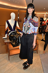 ERIN O'CONNOR at a dinner hosted by Tod's to celebrate the refurbishment of their store 2-5 Old Bond Street, London on 15th September 2016.
