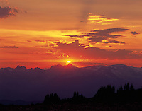 Sunset over the Coast Range of British Columbia Canada