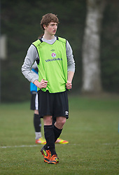 CARDIFF, WALES - Thursday, March 15, 2012: Wales U16's William Abbots (Bolton Wanderers FC & Manchester Grammar School) during a training session at the Glamorgan Sports Park. (Pic by David Rawcliffe/Propaganda)