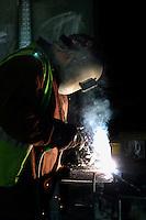 Electic arc welding.