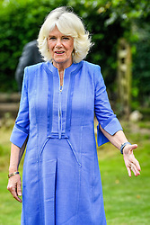July 14, 2020, Marlborough, United Kingdom: Image licensed to i-Images Picture Agency. 14/07/2020. Marlborough,United Kingdom. The Duchess of Cornwall during a visit to the Youth Action Oxenwood Outdoor Activity Centre near Marlborough, United Kingdom, where she met young carers and re-opened the centre, which has been shut during the coronavirus lockdown. (Credit Image: © Pool/i-Images via ZUMA Press)