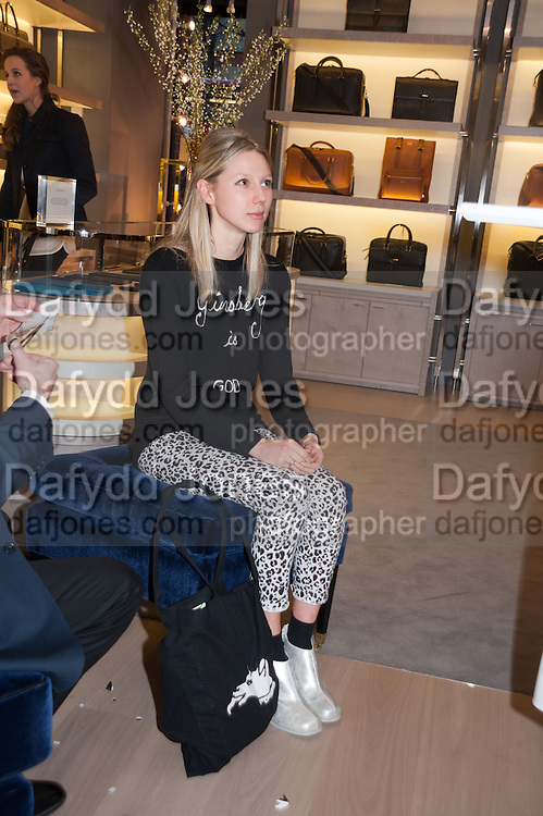 FRANCES COSTELLOE, Smythson Sloane St. Store opening. London. 6 February 2012.