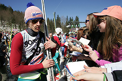20.03.2014, Planica, Ratece, SLO, FIS Weltcup Ski Sprung, Planica, Qualifikation, im Bild DAWID KUBACKI, KIBICE, AUTOGRAFY // DAWID KUBACKI , KIBICE , AUTOGRAFY during the qualifikation of the mens individual large Hill of the FIS Ski jumping Worldcup Cup finals at Planica in Ratece, Slovenia on 2014/03/20. EXPA Pictures © 2014, PhotoCredit: EXPA/ Newspix/ Katarzyna Woloszczak<br /> <br /> *****ATTENTION - for AUT, SLO, CRO, SRB, BIH, MAZ, TUR, SUI, SWE only*****