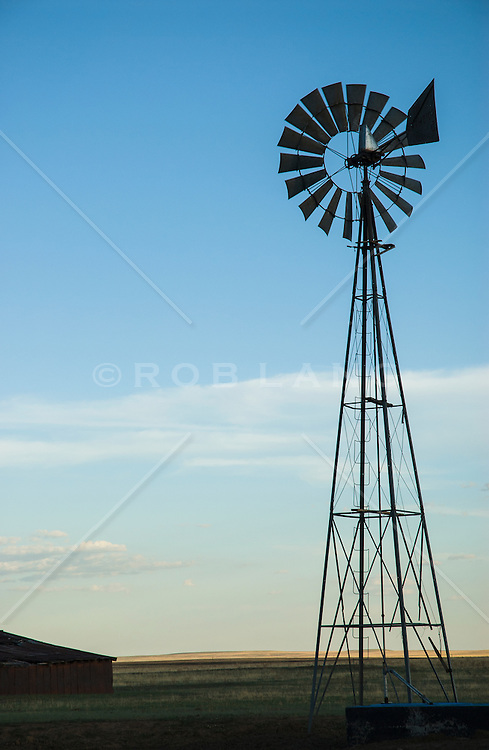 windmill on a ranch near Santa Fe, New Mexico