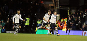 Fulham Striker Ross McCormack celebrates uring the Sky Bet Championship match between Fulham and Preston North End at Craven Cottage, London, England on 28 November 2015. Photo by Pete Burns.
