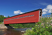 Pont couvert  Louis-Gravel on Riviere Ste Marguerite<br /> Sacré-Coeur<br /> Quebec<br /> Canada