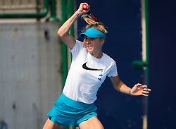 September 28, 2018 - Elina Svitolina of the Ukraine practices at the 2018 China Open WTA Premier Mandatory tennis tournament (Credit Image: © AFP7 via ZUMA Wire)
