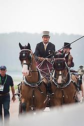 Chester Weber, (USA), Boris W, Boy W, Para, Splash, Uniek - Driving dressage day 2 - Alltech FEI World Equestrian Games™ 2014 - Normandy, France.<br /> © Hippo Foto Team - Dirk Caremans<br /> 05/09/14