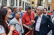 Roma 11 Maggio  2013.La Cosa Giusta,  Manifestazione di Sinistra Ecologia e Libertà. Stefano Rodotà