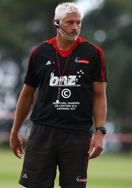 DURBAN, SOUTH AFRICA, 24,MARCH, 2016 - Todd Blackadder (Head Coach) of the BNZ Crusaders during The Crusaders training session  at Northwood School Durban North in Durban and the Crusaders Media conference, South Africa. (Photo by Steve Haag)<br /> <br /> images for social media must have consent from Steve Haag