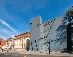 View of the Jewish Museum  and modern extension designed by Daniel Libeskind in Kreuzberg, Berlin, Germany