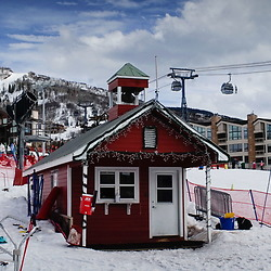 Little Red House Ski School at Mt. Werner, Steamboat Springs, Colorado, US