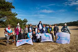 18-03-2018 NED: We hike to change diabetes, Soest<br /> Training voor de Camino 2018 op de Soesterduinen / Team Nederland