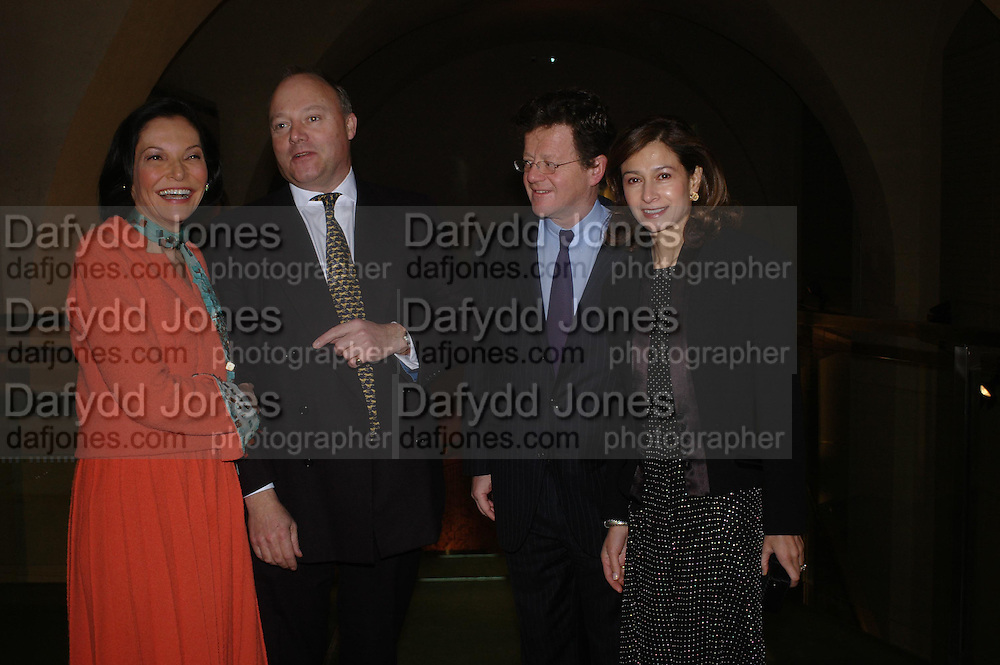 Judith Price, Henry Strutt, Mr. and Mrs. Hervi and Marina Aaron.. Masterpieces of American Jewelry at the Gilbert Collection. Somerset House. 14 February 2005. ONE TIME USE ONLY - DO NOT ARCHIVE  © Copyright Photograph by Dafydd Jones 66 Stockwell Park Rd. London SW9 0DA Tel 020 7733 0108 www.dafjones.com