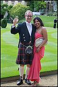 ALASDAIR DRAKE; MELNISHA DAVIDS, The Tercentenary Ball, Worcester College. Oxford. 27 June 2014