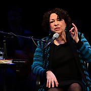 US Supreme Court Justice Sonia Sotomayor speaks during a Writers on a New England Stage show at The Music Hall in Portsmouth, NH