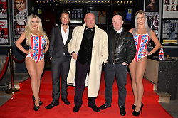 Pictured are Roxanna, Jamie Bannerman (actor) London Gangster Dave Courtney, Eastender Steve McFadden and Natalie.<br /> London gangster Dave Courtney arrives on the red carpet for the film premiere of 'Full English Breakfast' that he stars in, at The Prince Charles Cinema, London, UK.<br /> Tuesday, 25th March 2014. Picture by Ben Stevens / i-Images