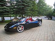 Young man in a Ferrari 458 Italia