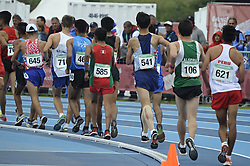 October 11, 2018 - Buenos Aires, Buenos Aires, Argentina - Competitors in the Men's 5000m Race Walk Stage 1on Day 5 of the Buenos Aires 2018 Youth Olympic Games at the Olympic Park. (Credit Image: © Patricio Murphy/ZUMA Wire)