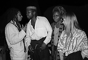 Don Letts and friends at the Island 25 party - London 1987