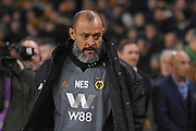 Wolverhampton Wanderers manager Nuno Espirito Santo during the Premier League match between Wolverhampton Wanderers and Chelsea at Molineux, Wolverhampton, England on 5 December 2018.