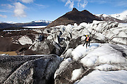 Glacier hike on Svinafellsjokull, Skaftafell National Park, south Iceland