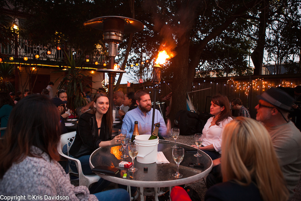 Scene from Bacchanal. Good food, good jazz, good people in a relaxed backyard setting.