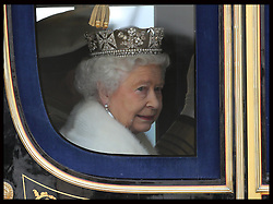 The Queen arriving at the State Opening of Parliament in London, Wednesday, 8th May 2013.  Photo by: Stephen Lock / i-Images